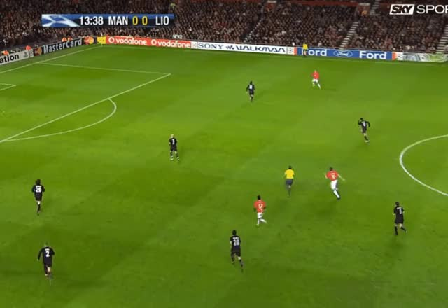 Watch Cristiano Ronaldo dribble run + short pass Vs Lyon 04.03.2008 GIF by FIFPRO Stats (@rahspot) on Gfycat. Discover more related GIFs on Gfycat