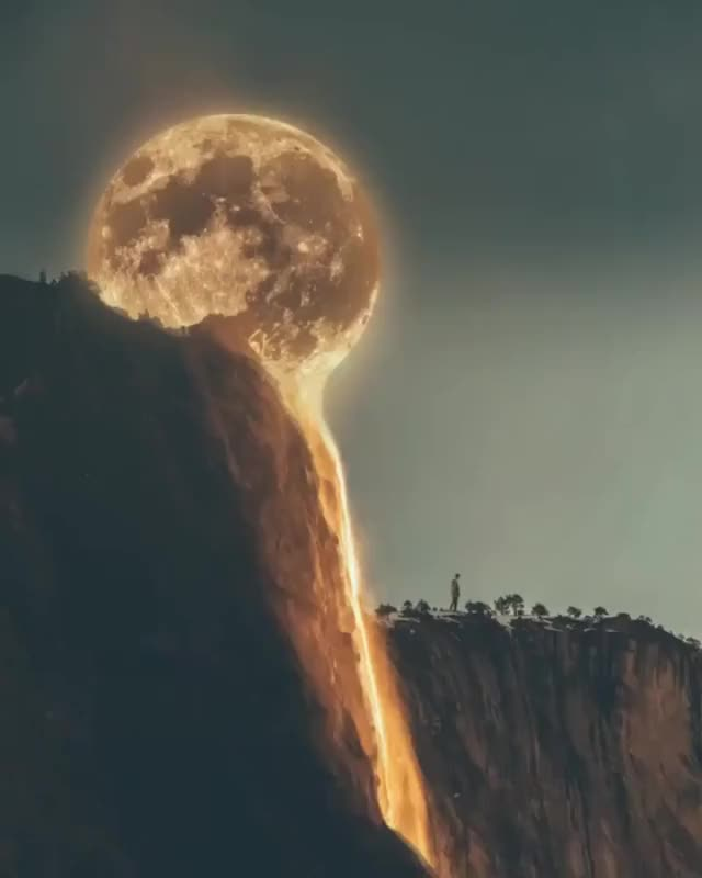 Watch Melting Moon GIF on Gfycat. Discover more related GIFs on Gfycat
