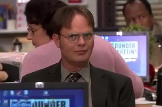 a, be, don't, funny, lol, no, office, quiet, rainn, say, shh, silence, silent, smile, surprise, the, us, wilson, word, Dwight - Shhh GIFs
