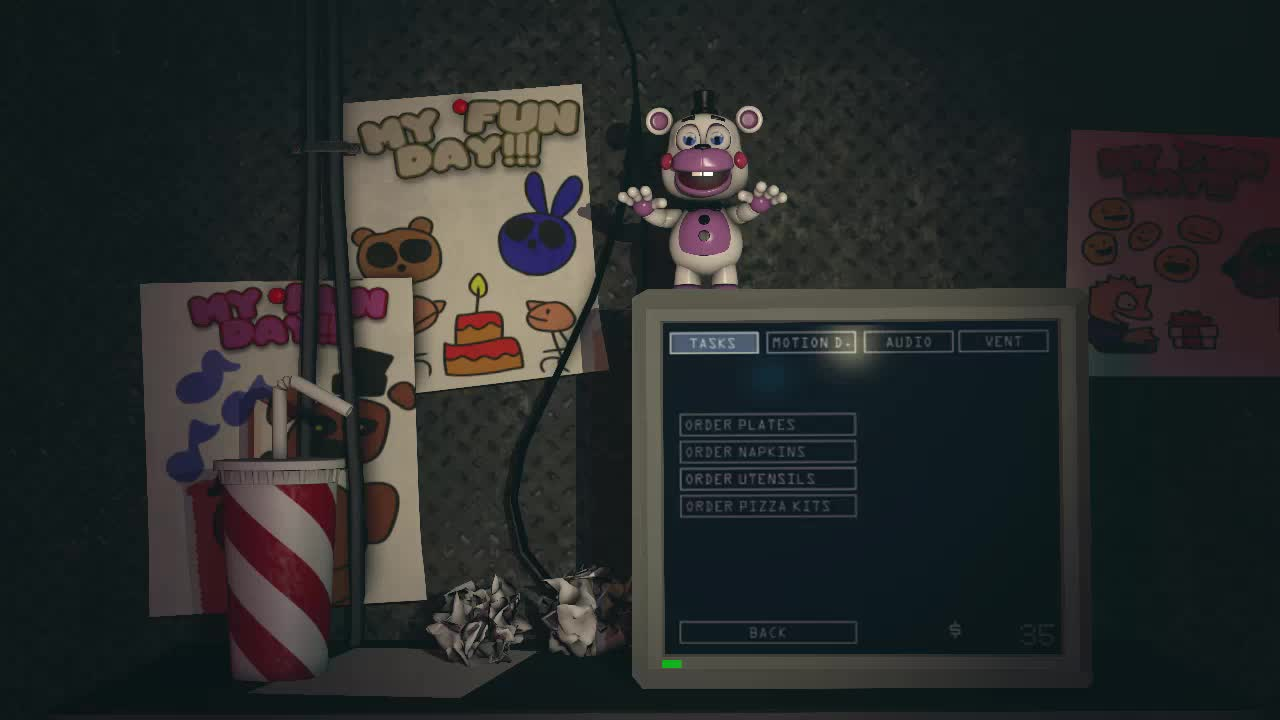 ffps, fnaf, fnaf6, freddyfazbearspizzariasimulater, scrapbaby, Improved Scrap Baby Jumpscare (with claw) GIFs