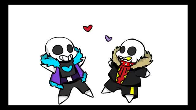 Watch and share HE BROKE MY HEART - MEME [UNDERFELL SANS X UNDERLUST SANS] GIFs on Gfycat