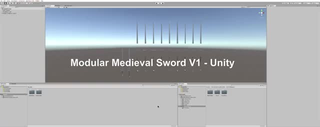 Watch and share Modular Medieval Sword V1 - Unity GIFs by iamsickinmymind on Gfycat