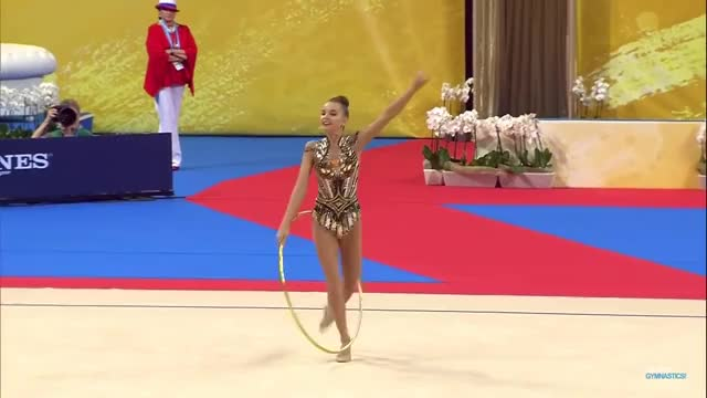 Watch Dina AVERINA (RUS) 2018 hoop GIF by My.Passion.My.Thoughts. (@mypassionmythoughts) on Gfycat. Discover more averina, averina sisters, averina twins, body, body difficulty, difficulty, dina averina, flexibility, gold, gymnastics, hoop, hooping, rg, rhythmic, rhythmic gymnastics GIFs on Gfycat