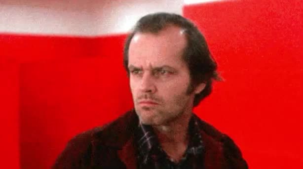 confused, confusion, dizzy, drunk, funny, jack, nicholson, not, red, sure, think, Jack Nicholson is confused GIFs