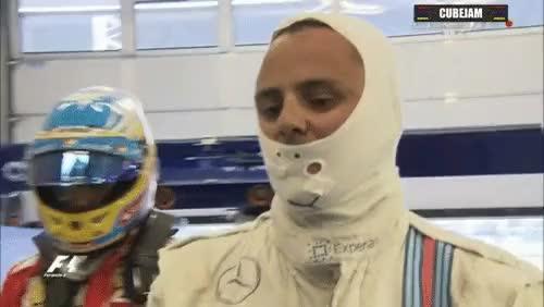 Watch Alonso congratulates Massa - Austria Qualifying (reddit) GIF on Gfycat. Discover more formula1gifs GIFs on Gfycat