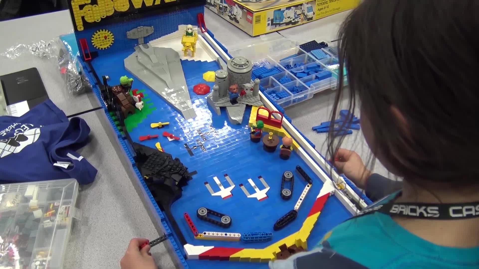 lego, pinball, Functional LEGO Pinball Machine Star Wars / Fabuland GIFs