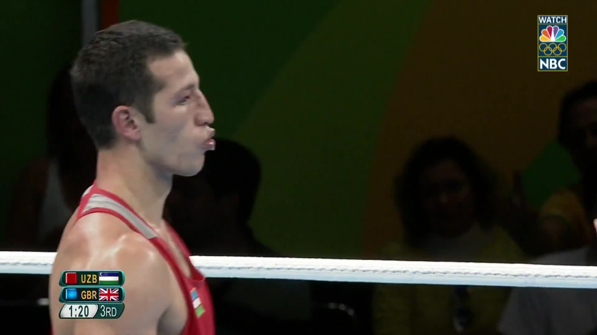 boxing, gifs, olymgifs, Great Britain's Buatsi pounds opponent's face for TKO GIFs