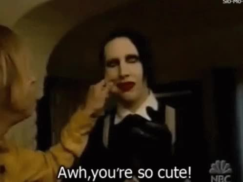Watch Aww Youre GIF on Gfycat. Discover more marilyn manson GIFs on Gfycat