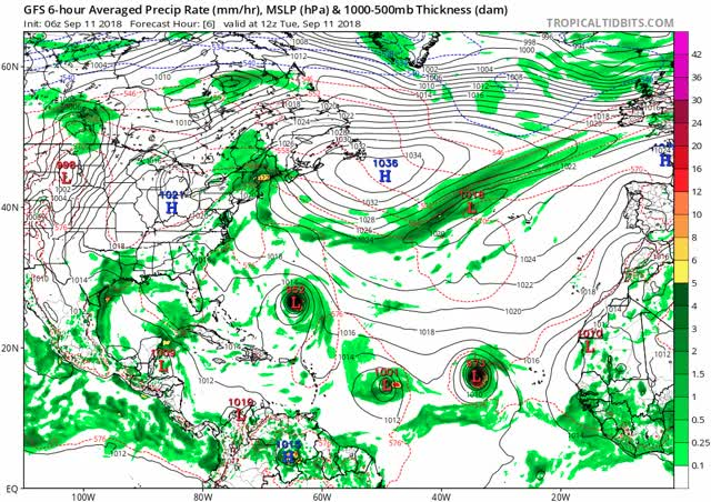 Watch and share Hurricane Florence - Gfs Mslp Pcpn Atl Fh6-384 GIFs by The Watchers on Gfycat