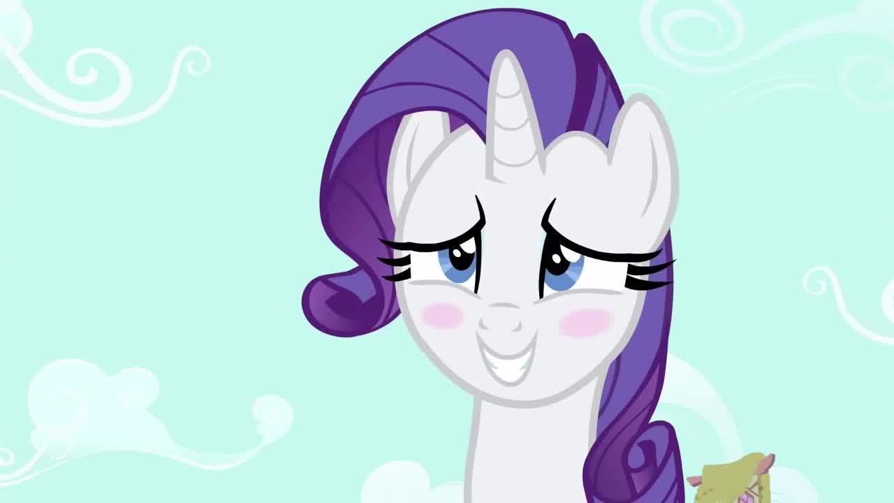 GIF Brewery, blushing, cute, ponny, rarity, shy, sweet, swoon, Cuty blushing ponny GIFs