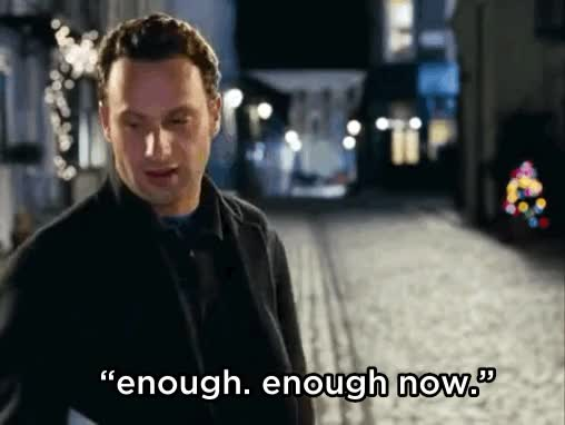 Watch and share Love Actually GIFs and Enough GIFs on Gfycat