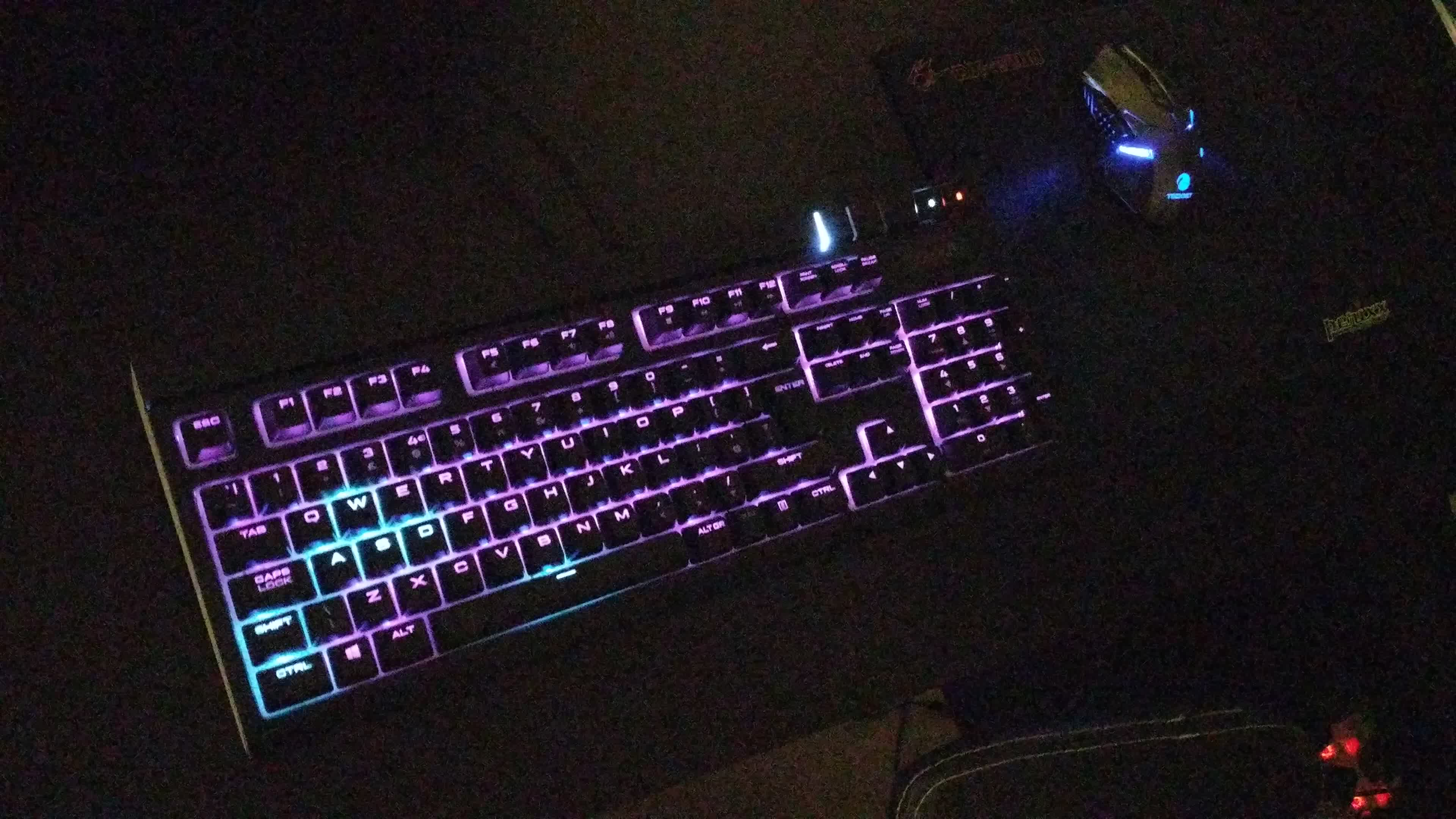 corsair, keyboard, mechanical, outrun, rgb, strafe, Corsair Strafe RGB - Outrun GIFs