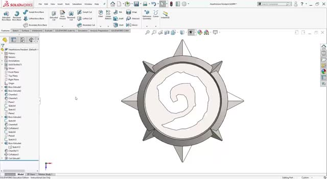 Watch SOLIDWORKS Hearthstone Pendant GIF on Gfycat. Discover more related GIFs on Gfycat