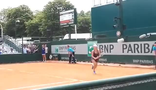 Watch Putintseva Knapp RG2016 match point GIF on Gfycat. Discover more related GIFs on Gfycat