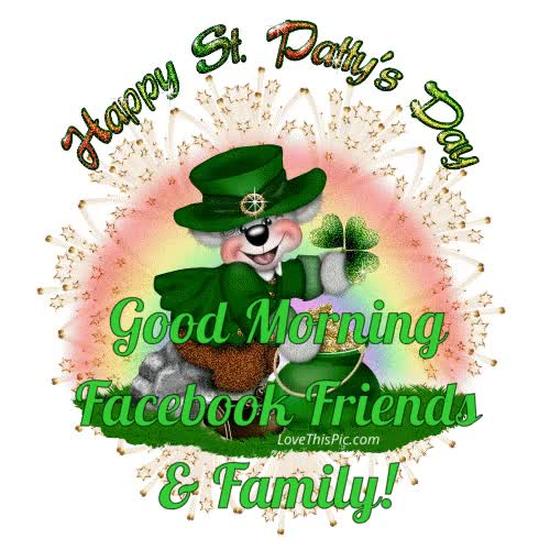 Watch and share Happy St Patty Day Good Morning GIFs on Gfycat