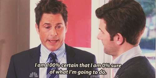 chris traeger, i don't know, idk, parks and rec, parks and recreation, rob lowe,  GIFs