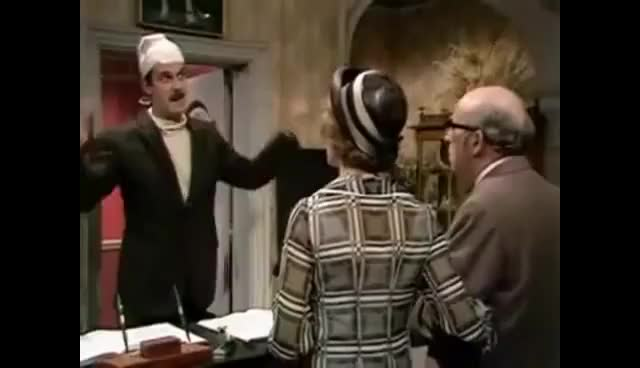 Watch and share Fawlty Towers- The Germans- Meat GIFs on Gfycat