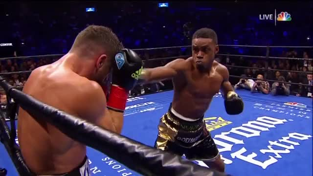 Watch Errol Spence Jr KO's Chris Algieri GIF on Gfycat. Discover more Errol Spence, Errol Spence Jr, boxeo, boxing, knockout, nyrkkeily GIFs on Gfycat