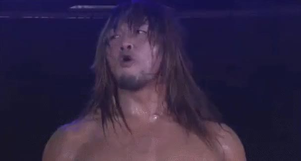 Watch エヌヒト(プロレス・ブロガー) - うわ!格好良い!!棚橋のウインク!!RT @DeathToAllMarks: GIF request: Tanahashi's wink. GIF on Gfycat. Discover more squaredcircle GIFs on Gfycat