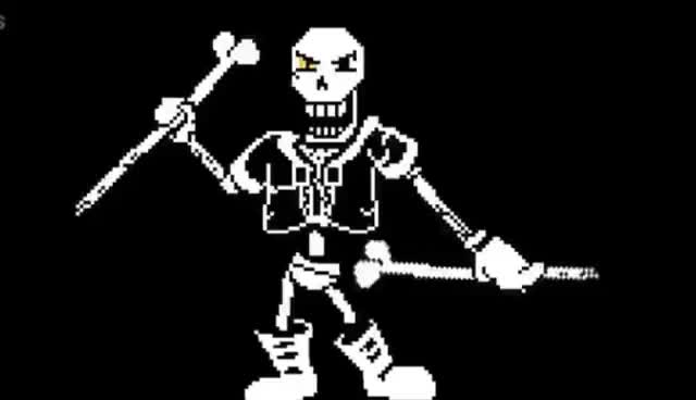 Watch and share No More Games:disbelief Papyrus Phase 2 GIFs on Gfycat