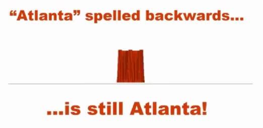 Watch and share Atlanta Spelt Backwards Is Atlanta GIFs on Gfycat