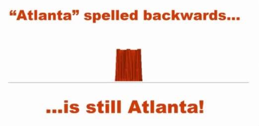 Atlanta Spelt Backwards is Atlanta GIFs