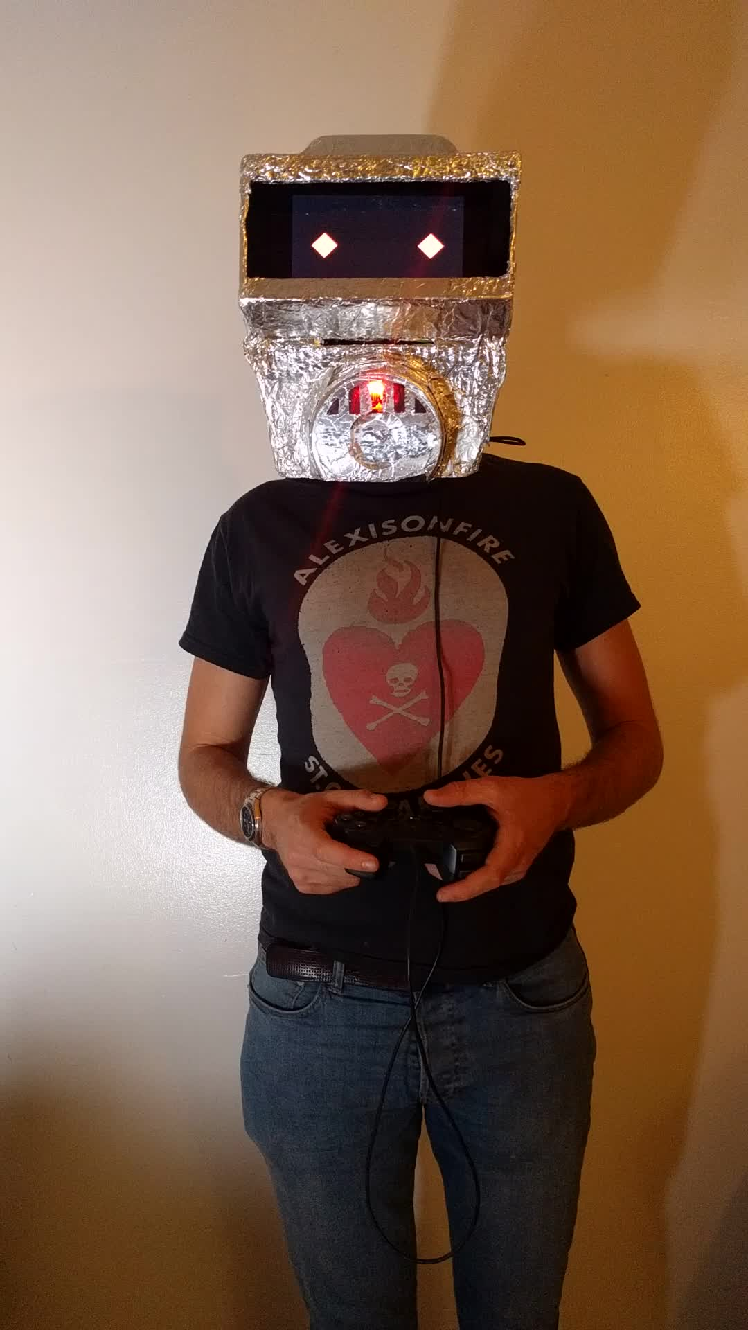 DIY, costume, home made, mask, raspberry pi, robot, rpi, This years Halloween costume got a bit out of control GIFs