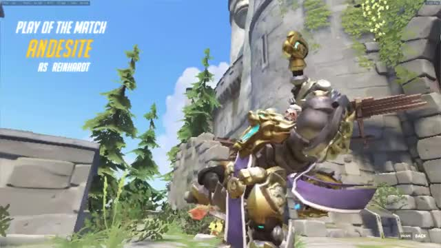 Watch and share Reinhardt POTM GIFs by andesite on Gfycat