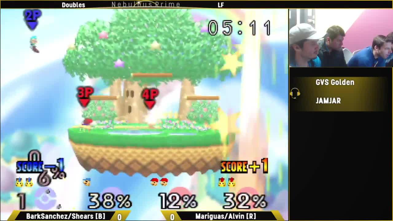 smashbros, SuperBoomed: Doubles - LF: BarkSanchez/Shears [B] vs. Mariguas/Alvin [R] GIFs