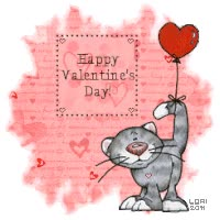 Watch Happy Valentine's Day Cat with heart balloon - animated GIF on Gfycat. Discover more related GIFs on Gfycat