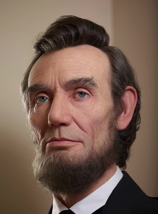 Watch and share Abraham Lincoln Kazuhiro Silicone Sculptures That Look Alive Designstack Co GIFs on Gfycat