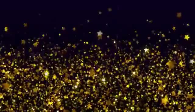 Watch and share Shimmering Gold Stars - Free Stock Video Background Loop GIFs on Gfycat
