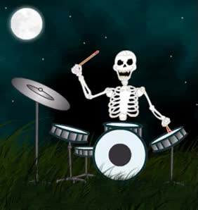 Watch and share Band Skeleton Drum Drums Drummer Happy Halloween Emoticon Emoticons Animated Animation Animations Gif Photo: Band Skeleton Drum Drums Drummer Happy Halloween Emoticon Emoticons Animated Animation Animations Gif Halloween_glitter_02.gif GIFs on Gfycat