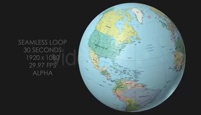 Watch and share Rotating Globe World Political Map - Top View GIFs on Gfycat