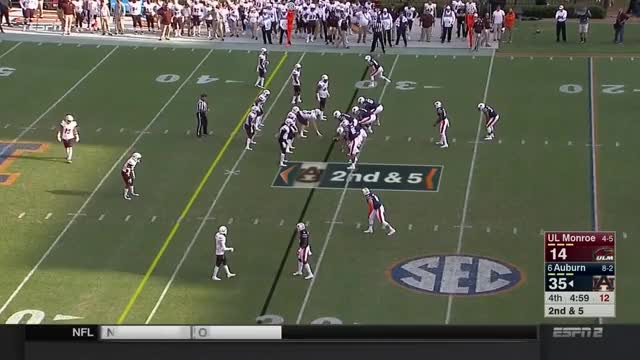 Watch and share NCAAF 2017 Week12 Louisiana Monroe At Auburn GIFs on Gfycat