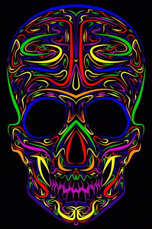 Watch and share Colors GIFs and Skull GIFs by SKEZ520 on Gfycat