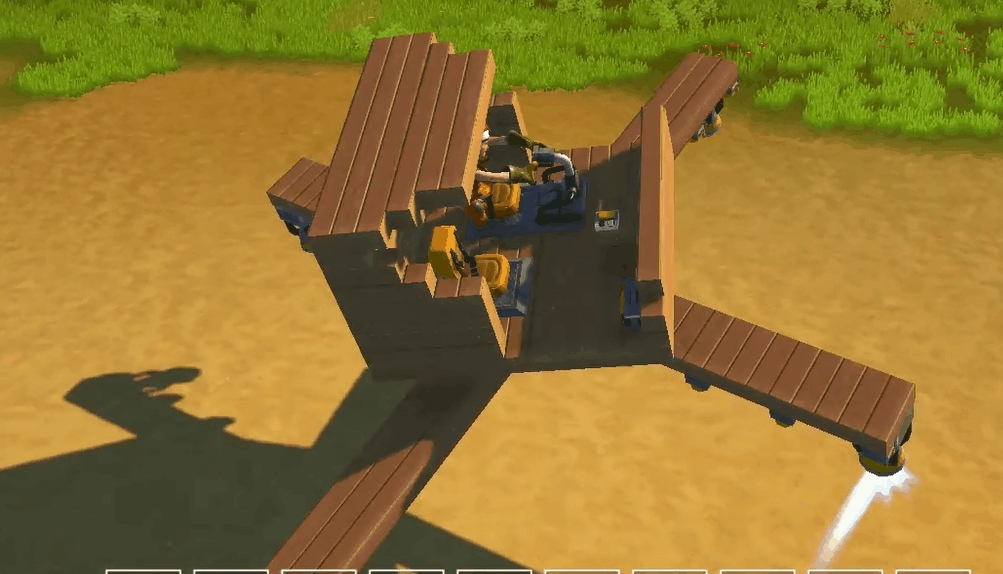 ScrapMechanic, scrapmechanic, shitty attempt at an inverted helicopter (reddit) GIFs