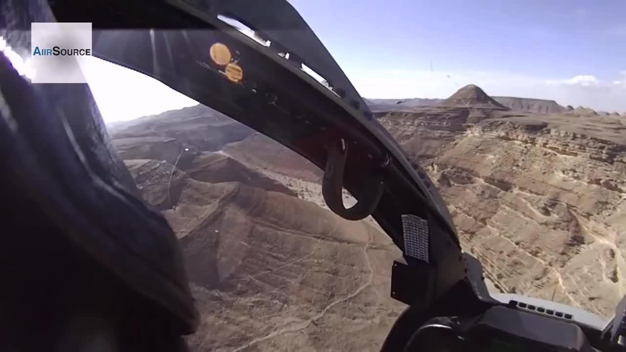 militarygfys, SuperCobra cockpit footage GIFs