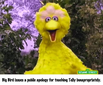 Big Bird just can't keep his hands to himself...[GIF] • r/bertstrips GIFs