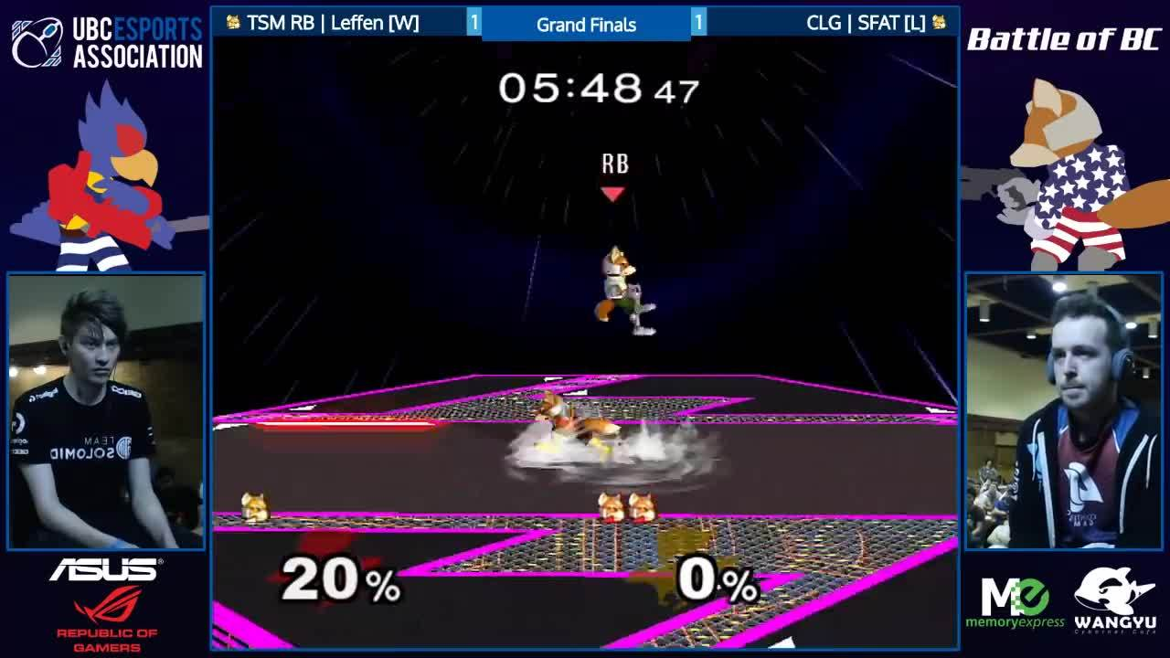 smashgifs, TSM RB | Leffen (White Fox) vs. CLG | SFAT (Red Fox) | SSBM GF | BoBC GIFs
