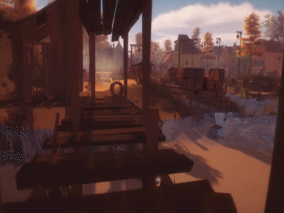 enviro, low_poly, Unity3D The village of 18th century GIFs