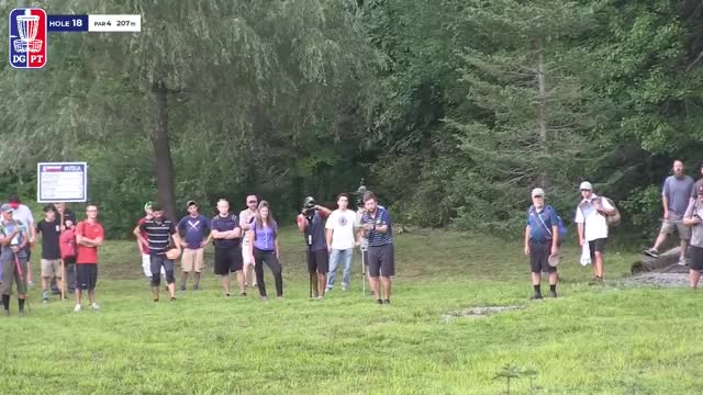 Watch Round Two 2018 MVP Open at Maple Hill - Nate Sexton hole 18 GIF by Benn Wineka UWDG (@bennwineka) on Gfycat. Discover more Sports, dgpt, disc golf, disc golf pro tour GIFs on Gfycat
