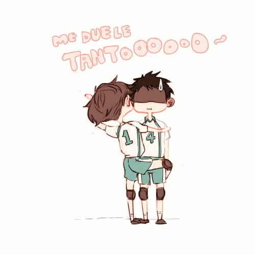 Watch and share Iwaizumi Hajime GIFs and Oikawa Tooru GIFs on Gfycat