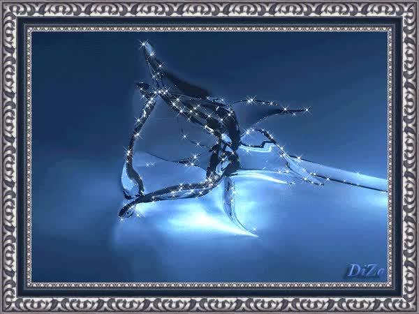 Watch and share Голубой Хрустальный Хрупкий Цветок - Цветы Анимация, Картинка Gif, Анимированная Открытка GIFs on Gfycat