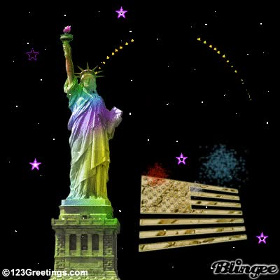 Watch and share Happy 4th ~ Statue Of Liberty GIFs on Gfycat