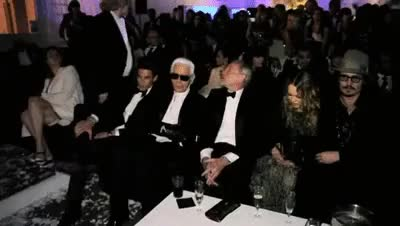 Watch and share Vanessa Paradis GIFs and Karl Lagerfeld GIFs on Gfycat