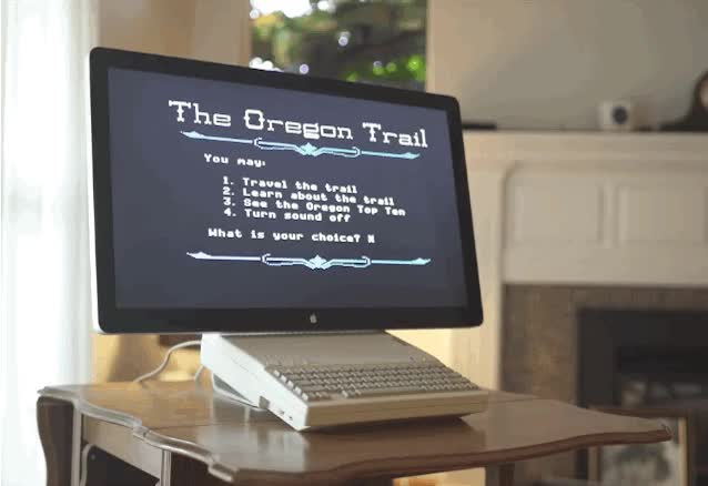 Watch Did you know you can connect an Apple II to a Cinema Display? GIF on Gfycat. Discover more related GIFs on Gfycat