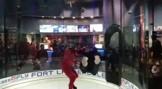 Watch and share Indoor Skydiving GIFs on Gfycat