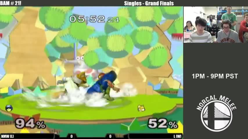 smashgifs, BAM #21 Singles Grand Finals NMW (Capt. Falcon) vs L (Fox) GIFs