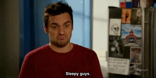 Watch and share Jake Johnson GIFs and Sleepy GIFs on Gfycat
